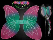 New/Package Dressup Fairy Wings, Wand and Floral Headpiece Accessories Child