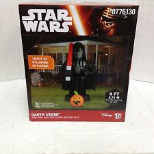 Star Wars Darth Vader light saber pumpkin Halloween Prop Life size inflatable