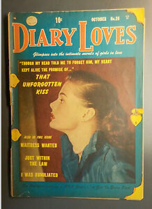 Diary Loves #26 ! QUALITY 1952 ! NICE PAGES but detached covers...    hayfamzone