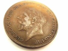 "1927 British One Penny ""George V"" Coin"