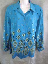 Silk Lore Blouse Sz. M Tunic Length Oversized Scarf Print Bigshirt 100% Silk NWT
