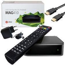 MAG 410 IPTV BOX Multimedia Player Internet TV Steaming Android Приставка UHD 4K