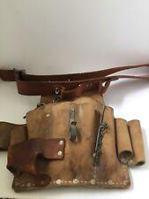 Nicholas Top Grain Cowhide NO 500 Construction/Electrician Tool pouch with Belt