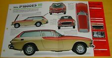1971 1973 1972 Volvo P1800 ES 4 Cylinder 1986cc BFI IMP Info/Specs/photo 15x9
