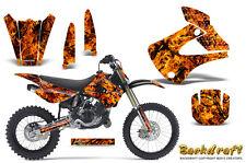 Kawasaki KX85 KX100 2001-2013 Graphics Kit CREATORX Decals BACKDRAFT O