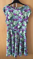 BNWT sz 10 Dress. Louche Green & Purple Fitted Wedding christening Occasion hen