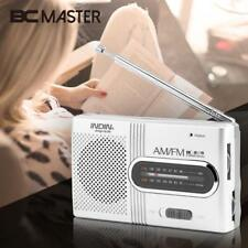 Mini Portable AM/FM Telescopic Antenna Radio Dual Band Channel Receiver Speaker