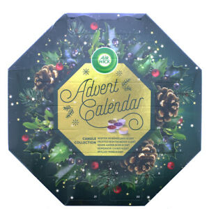 Airwick Christmas Tea Light Berry Cookie Mulled Wine Scented Advent Calendar