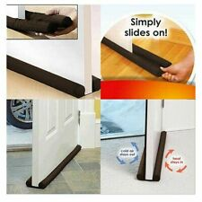 Twin Door Draft Dodger Guard Stopper Energy Saving Doorstop Protector NEW