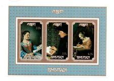 SPECIAL LOT Bhutan 1993 SC 1088-90 - Paintings - 20 Souvenir Sheets -IMPERF RARE