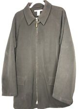 Perry Ellis Black Jacket Coat Polyester Spandex Shell Collar M19656 Dry Clean
