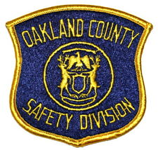 OAKLAND COUNTY – SAFETY DIVISION - MICHIGAN MI Sheriff Police Patch STATE SEAL ~