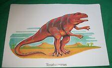 1979 ARGUS DLM NILES IL COLLIN FRY TERATOSAURUS DINOSAUR LITHO ART PICTURE VTG