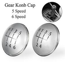 5/6 Speed Gear Knob Emblem Badge Cover Cap For VW Golf Jetta MK5 MK6 Rabbit UK
