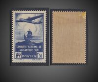 1936 FRANCE PLANE AND GALLEON NH CORNER WITH DEFECT GUM SCT.C16 Y 320