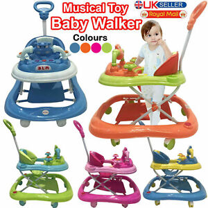 Baby Walker First Steps Push Along Bouncer Activity Music Ride On Car Melody