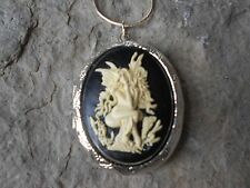 -(LOCKET)- SEA FAIRY - MERMAID WITH WINGS CAMEO PENDANT!! MYTHICAL, OCEAN, CORAL