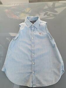 Genuine Ralph Lauren Sleeveless Shirt Blue Girls Age 11-12