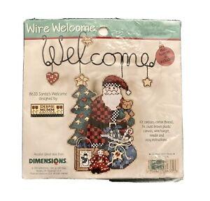 Dimensions Wire Welcome Debbie Mumm SANTA'S WELCOME Cross Stitch Kit 8633 - NIP