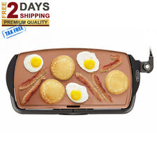 NEW ELECTRIC GRIDDLE NONSTICK PLATE Kitchen Cooking Food Pancake Grill Appliance