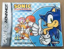 Sonic Advance Nintendo Gameboy Advance Instruction Manual (Booklet Only)!