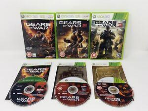 Gears of War Trilogy 1 + 2 + 3 - Xbox 360 - Video Game Bundle