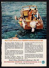 3w782/ Alte Reklame - von 1961 - JOHNSON Außenbordmotoren