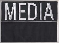 """NEWS PRESS @MEDIA TV 11"""" white-on-Black νeΙ©®⚙ PATCH for BULLETPROOF JACKET VEST"""