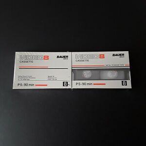 2 Video 8 Kassetten - Original verpackt ! P5 - 90 min.  ( BAUER - BOSCH )