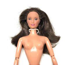 Nude OOAK Teresa Barbie Doll Mattel, Articulated Arms, Bendy Legs, Necklace