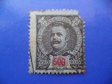PORTUGAL STAMP - 1895/96 KING CARLOS I (NEW DRAW / NOVO DESENHO) - 500 REIS