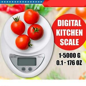 LCD Digital Kitchen Scale Diet Food Balance 5KG 11LBS Electronic Weight battery
