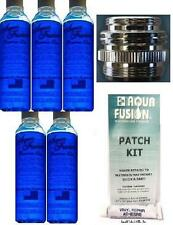 5 Premium 8 oz Bottles Waterbed Conditioner w/ Metal Faucet Adapter & Patch Kit