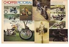 1973 3 Page Chopper Motrocycle Magazine Pictorial Harley Davidson Honda Triumph