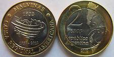 "Argentina 2 pesos 2012 ""30th Anniversary of the South Atlantic War"" UNC Bimetal"