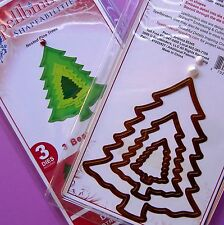 SPELLBiNDERS ~ NESTED PiNE TREES ~ THREE CUTTiNG DiES ~ CHRiSTMAS TREES ~