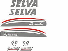 Adesivi motore marino fuoribordo Selva Piranha 9,9 hp  gommone barca stickers