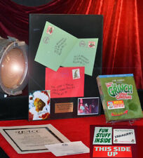 How GRINCH Stole Christmas Jim Carrey Prop MAIL, Framed, SIGNED PP DVD, UACC COA