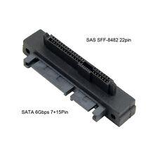 Right Angled 90 Degree SFF-8482 SAS to SATA Hard Disk Drive Raid Adapter