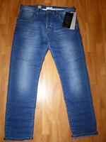 Neue 883 Police Cassad 18B Regular Denim Jeans Gr W34/L32 Mittel Blau