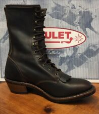 NEW Mens Size 10.5 D Boulet Lace-Up Packer Western Cowboy Boots Style 8099