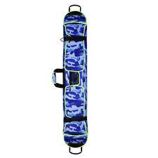 Snowboarding Ski Bag Cover Waterproof Adjustable Belt Carry Case Blue 145cm