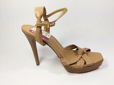 Dune Tan Leather High Heel Strappy Shoes Uk 7 Eu 40 Worn Once