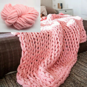 Bedding Knitted Throw Blanket for Couch Bed 20x20inch Microfiber Decorative
