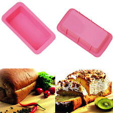 Silicone Bread Loaf Cake Mould Non Stick Bakeware Baking Oven Pan Rectangle NEW