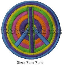 peace symbol rainbow sign iron on patch rainbow colours badge  #129