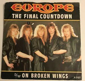"Europe - ""The Final Countdown""  7"" (1986) / ""On Broken Wings"" / A 7127  /  LOG8"