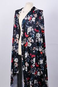 STUNNING BLACK FLORAL COTTON JERSEY FABRIC DRESS CRAFT INTERIOR CUSHION BODYCON