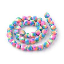 50 Round Pretty Fimo Polymer Clay Beads 8/9mm in diameter - same day free p&p