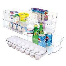 6-Piece Refrigerator Organization Bins Stackable / Egg Soda Can Racks
